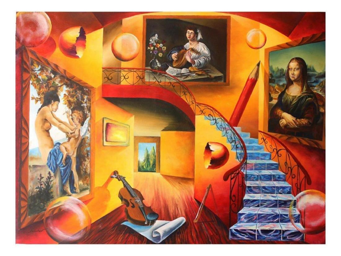 Alexander Astahov Original Oil on Canvas Mona Lisa