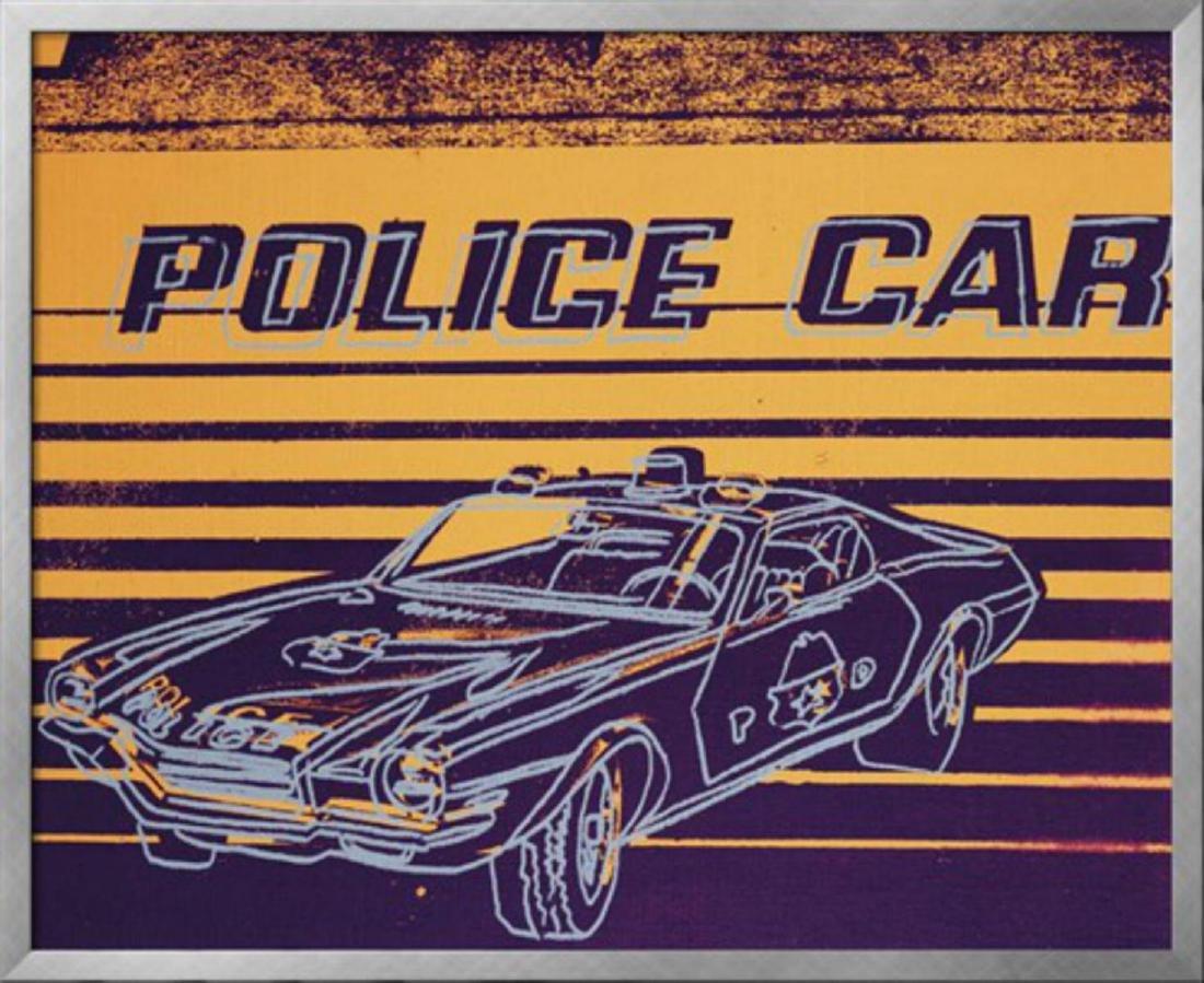 """Andy Warhol """"Police Car, 1983"""" Custom Framed XL"""