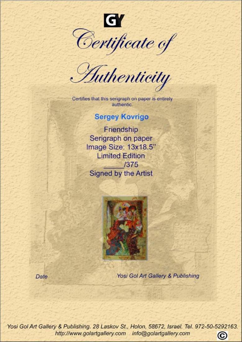 Sergey Kovrigo Limited Edition Vintage Serigraph - 3