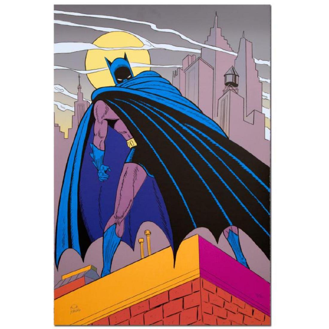 "Bob Kane (1915-1998) - ""Batman Over Gotham"" Extremely"
