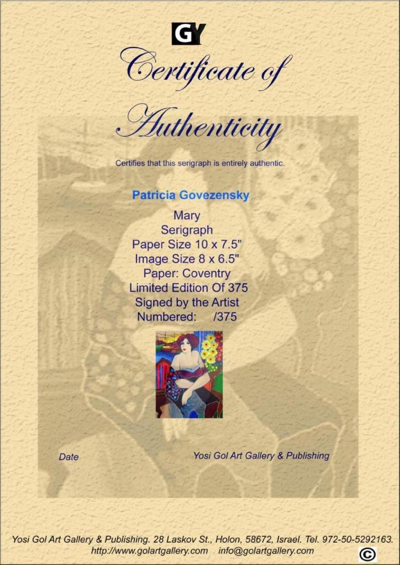 "Patricia Govezensky ""Mary"" HS/N LE Serigraph - 2"