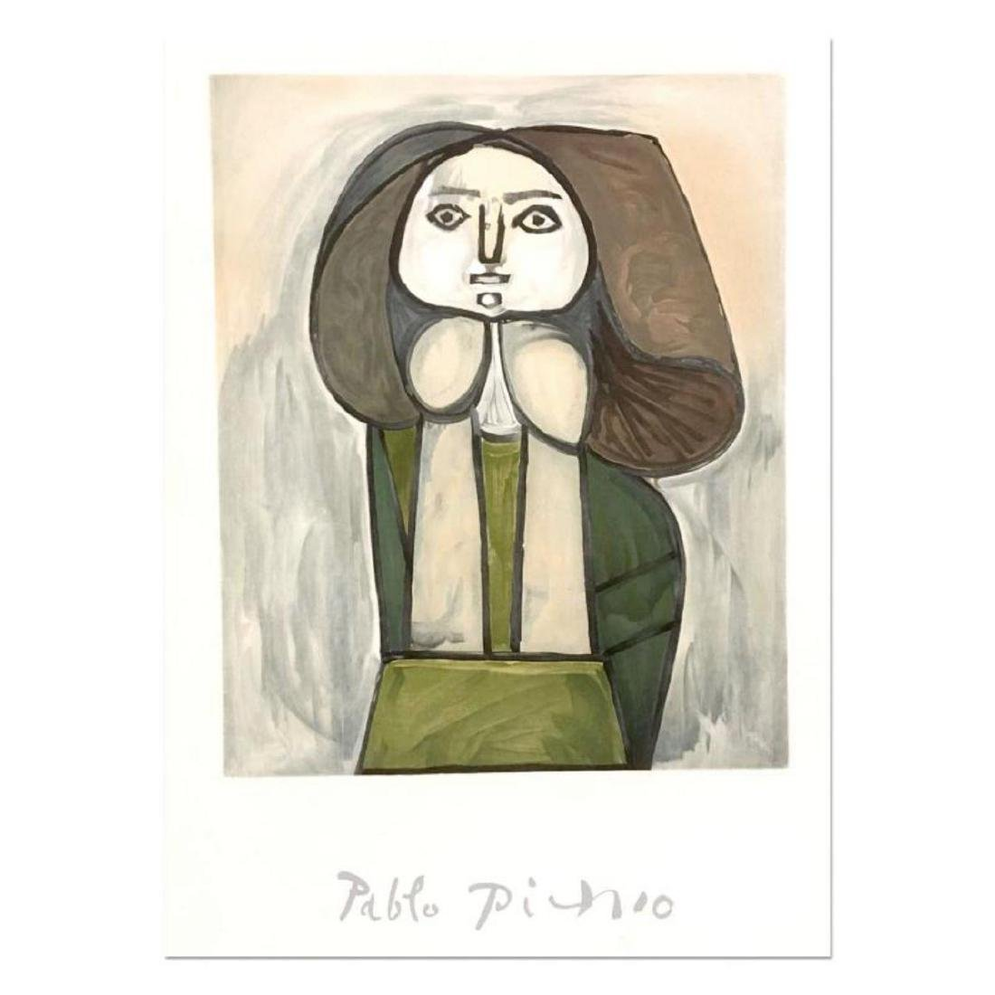 """Pablo Picasso (1881-1973) - """"Portrait De Femme A La"""