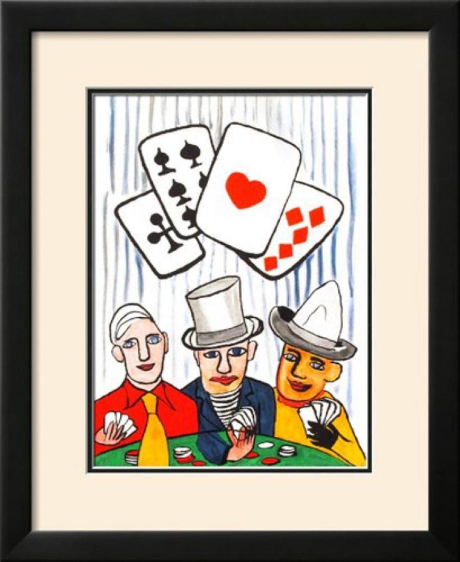 """Alexander Calder """"Derrier le Mirroir, no. 212: Joueurs"""