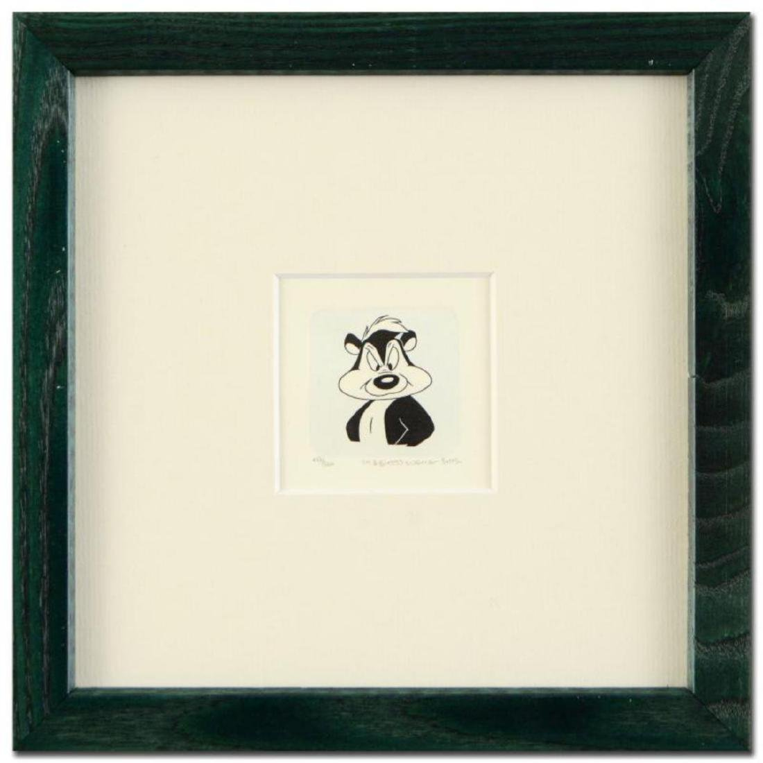 """""""Pepe Le Pew"""" Framed Limited Edition Hand-Tinted"""