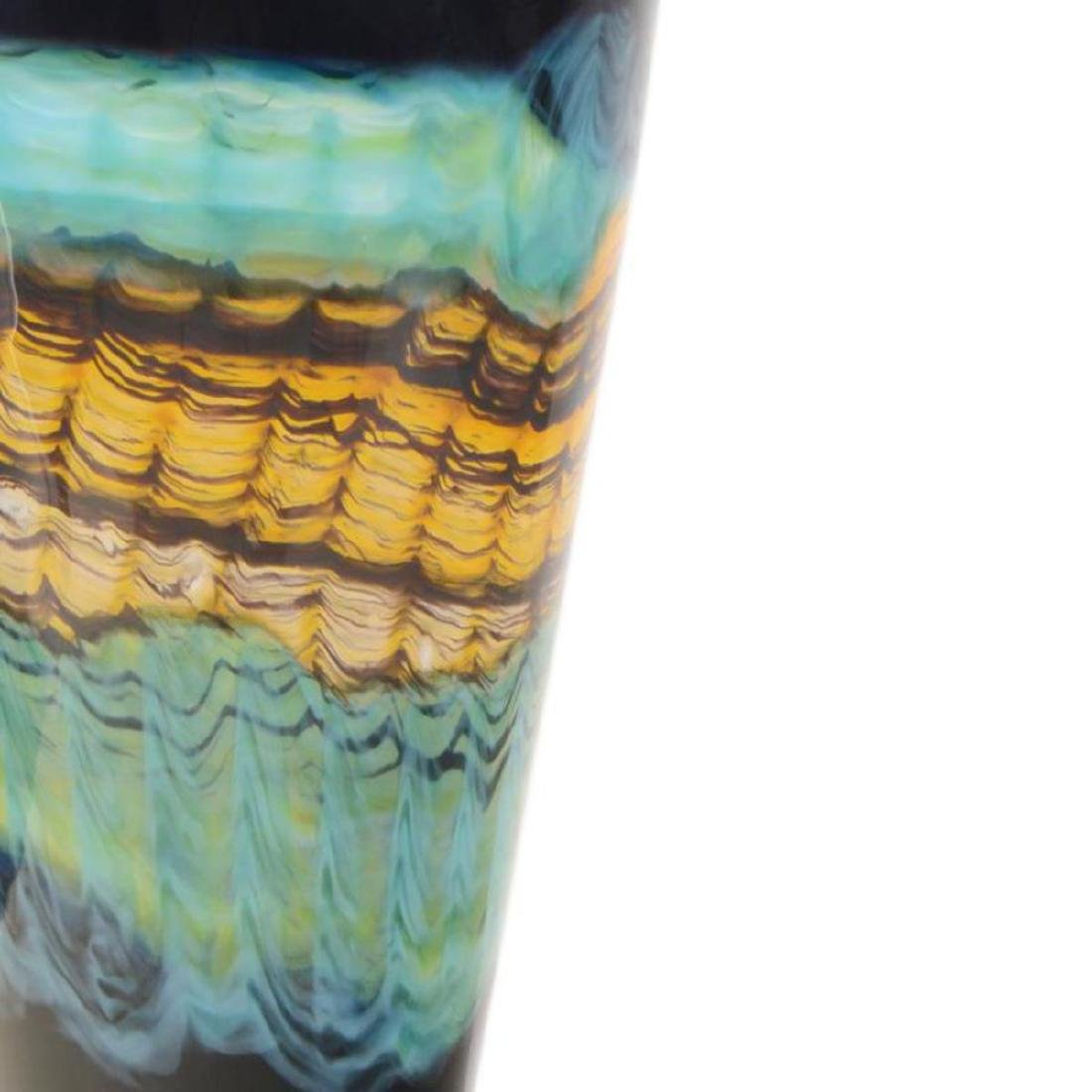 """""""Opal Series Footed Vessel with Avian Finial"""" Hand - 2"""