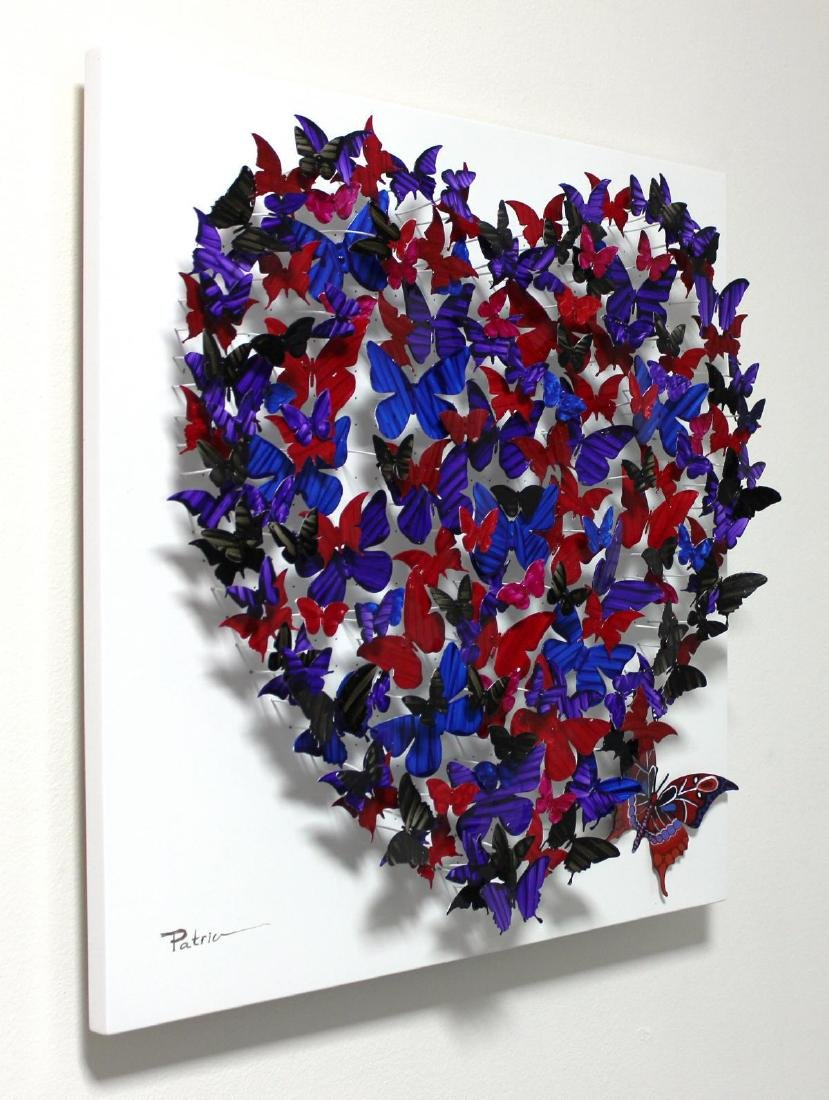 "Patricia Govezensky- Original 3D Metal Art ""Heart"" - 2"