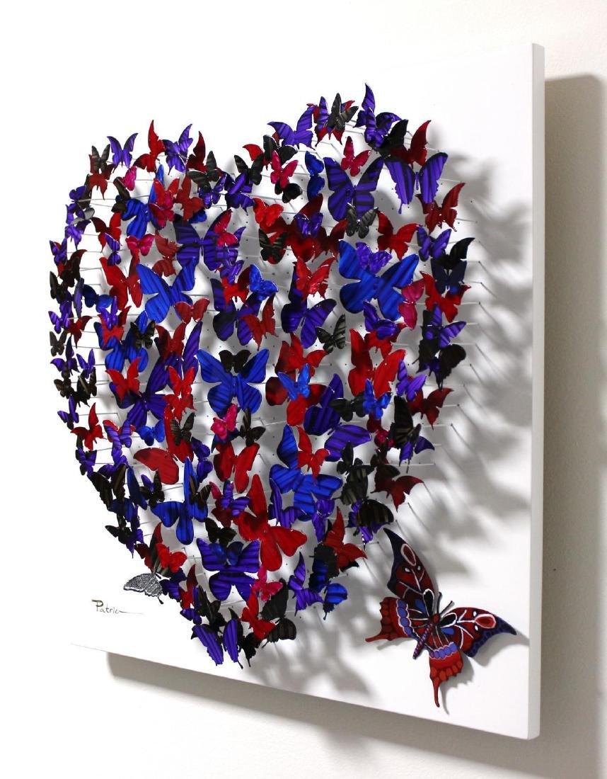 "Patricia Govezensky- Original 3D Metal Art ""Heart"" - 3"