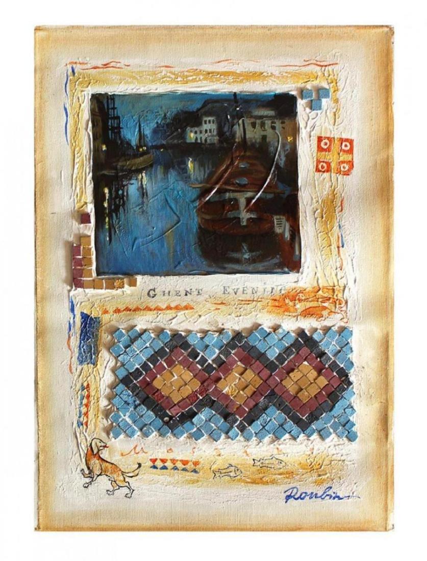 "Olga Roubin Original Acrylic on Canvas | 19.5"" x 13.5"""