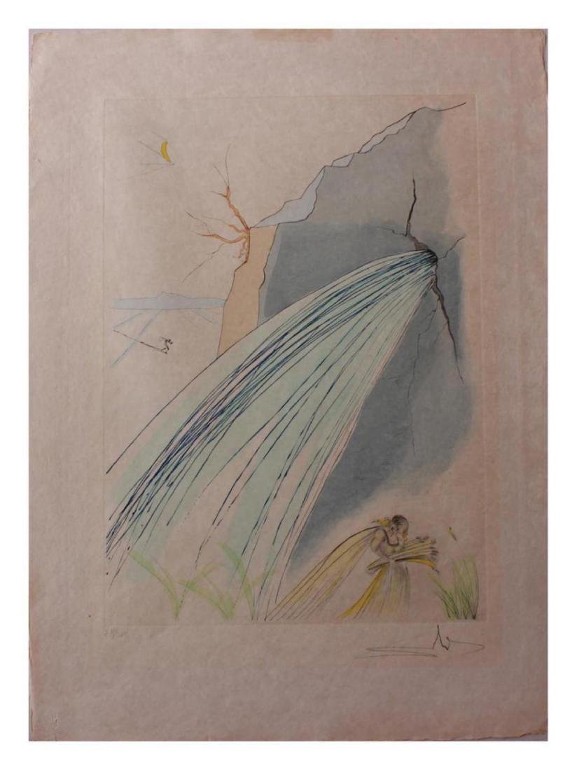 "Salvador Dali Original Watercolor on Etchings ""The"