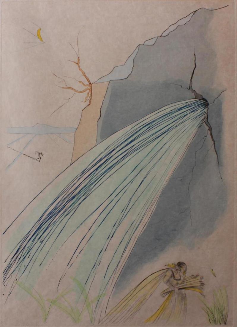 "Salvador Dali Original Watercolor on Etchings ""The - 2"