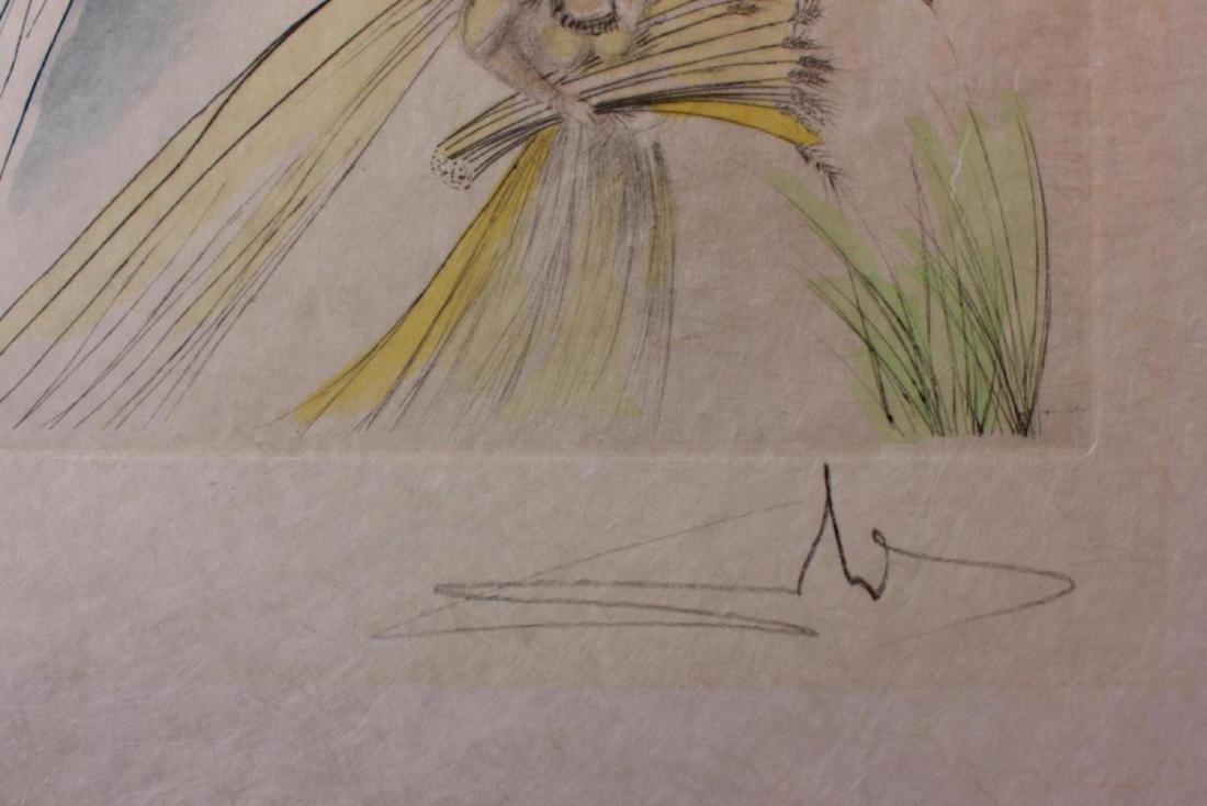 "Salvador Dali Original Watercolor on Etchings ""The - 3"