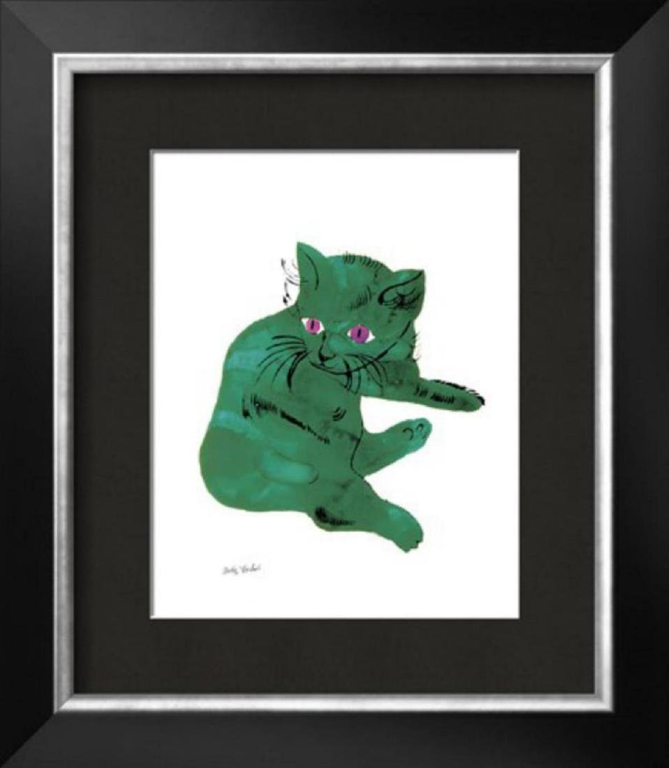 """Andy Warhol- Cat From """"25 Cats Named Sam and One Blue"""