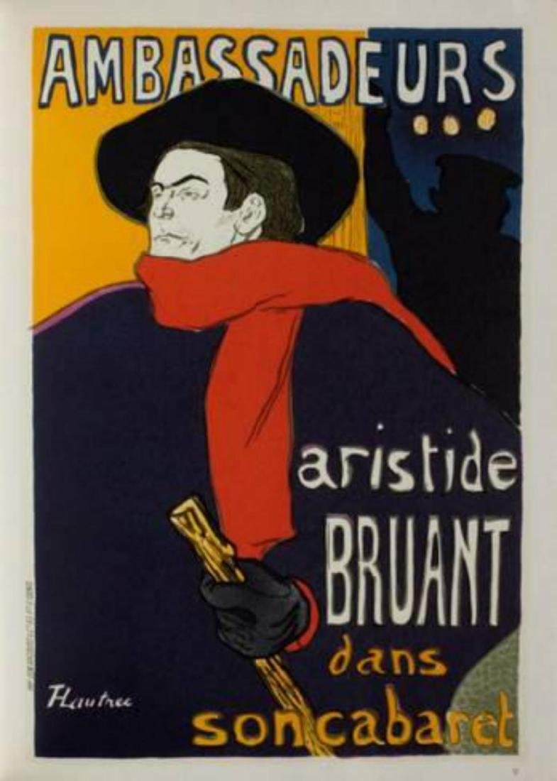 """Henri de Toulouse-Lautrec """"Aristide Bruant -"""