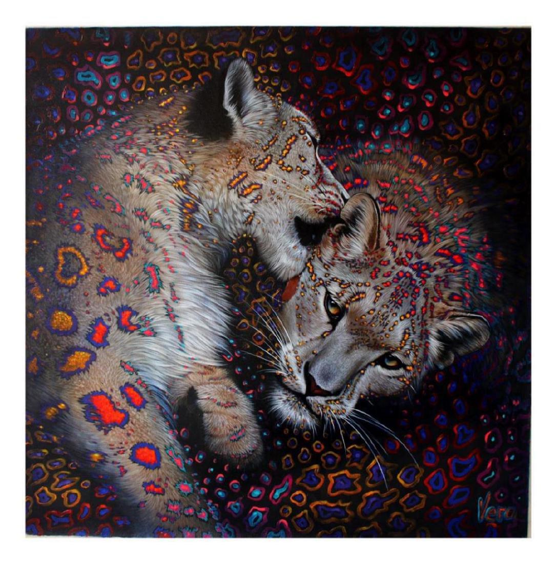 "Vera V. Goncharenko Original Oil on Canvas ""Wild Love"""