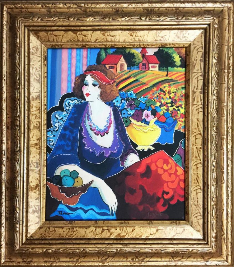 Patricia Govezensky Framed HS/N Serigraph on Canvas -