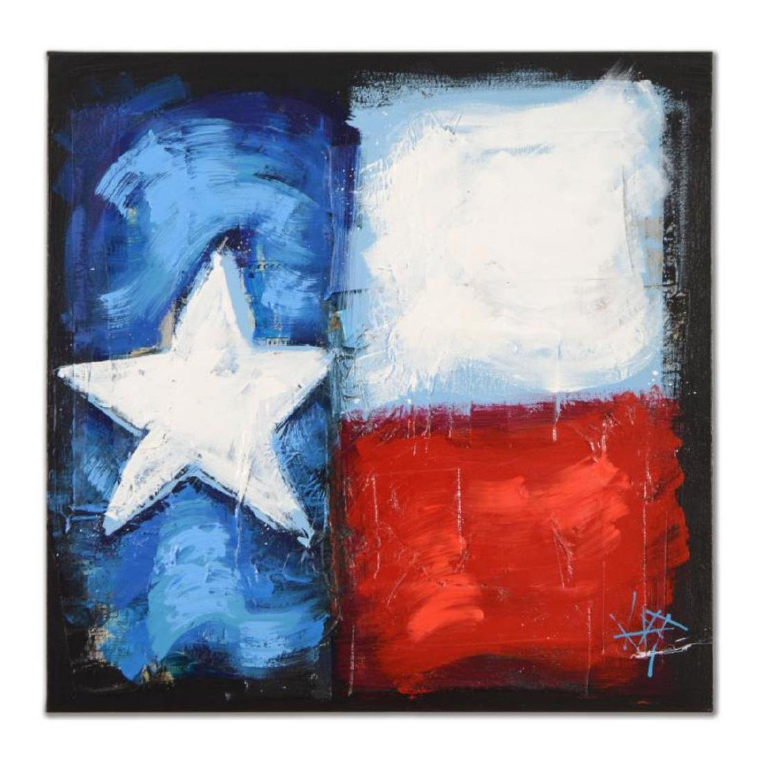 "KAT - ""Texas Rocks"" Original Acrylic Painting on"