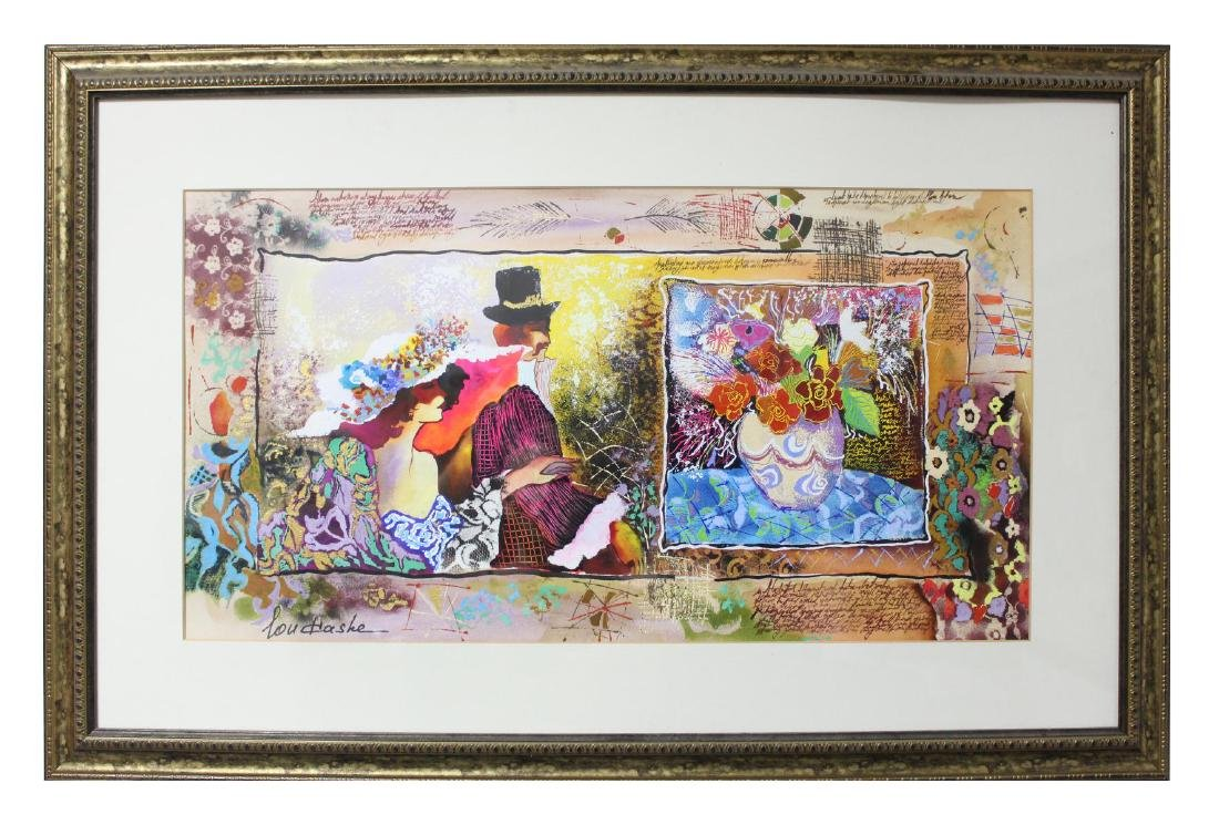 Custom framed Original Watercolor on Paper