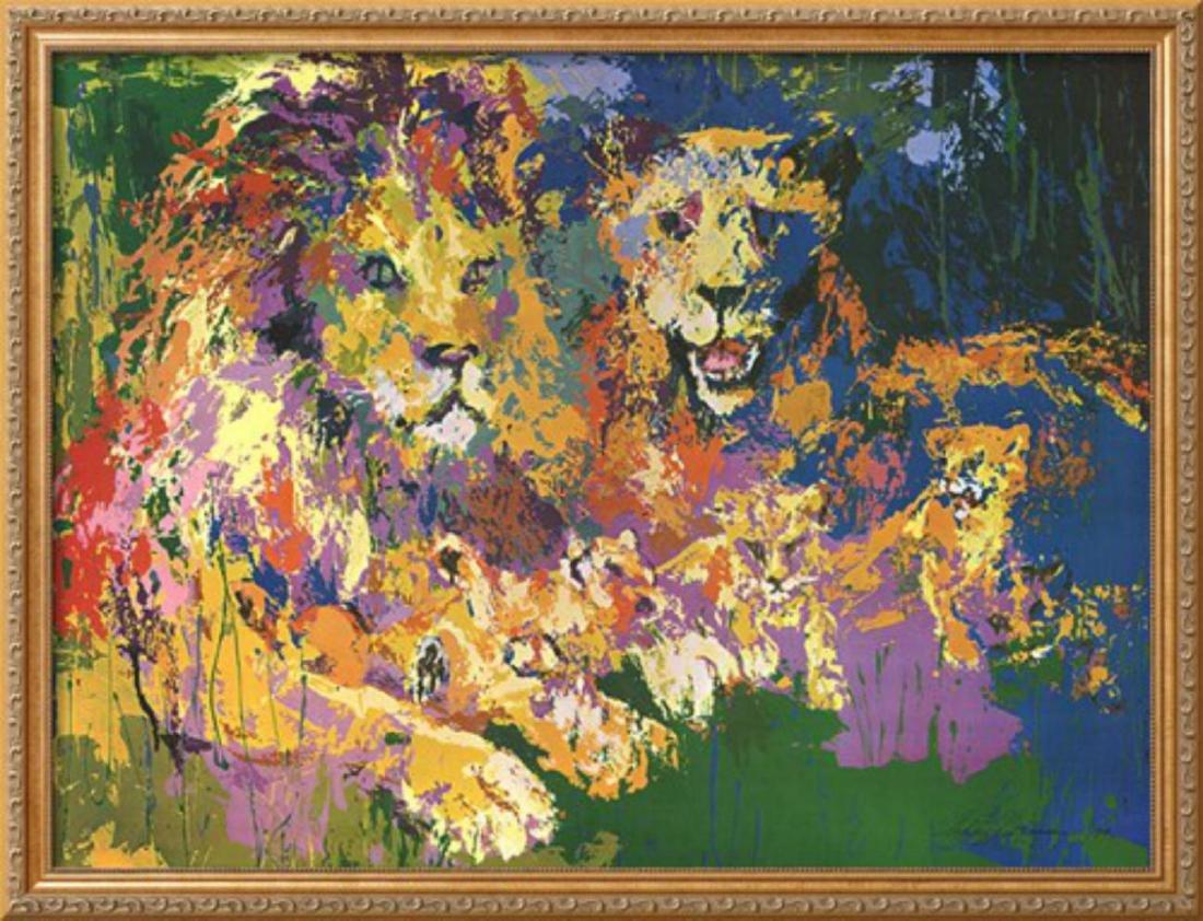 "LeRoy Neiman ""Lions Pride"" Custom Framed Offset"