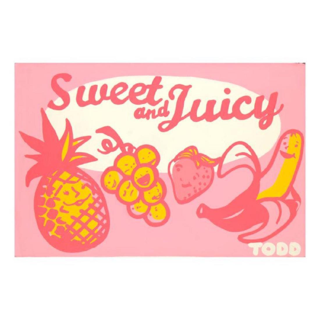 "Todd Goldman - ""Sweet and Juicy"" Original Acrylic"