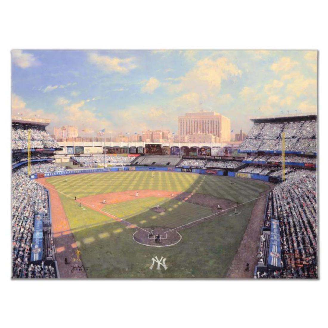 """Thomas Kinkade (1958-2012) - """"Yankee Stadium"""" Hand"""