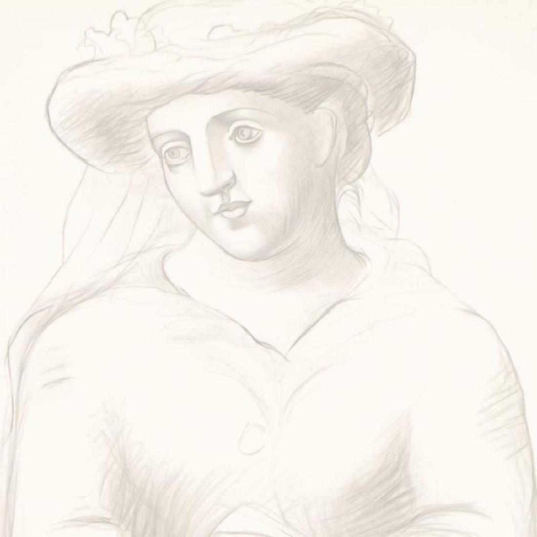 """Pablo Picasso (1881-1973) - """"Femme Au Chapeau Et Au - 2"""