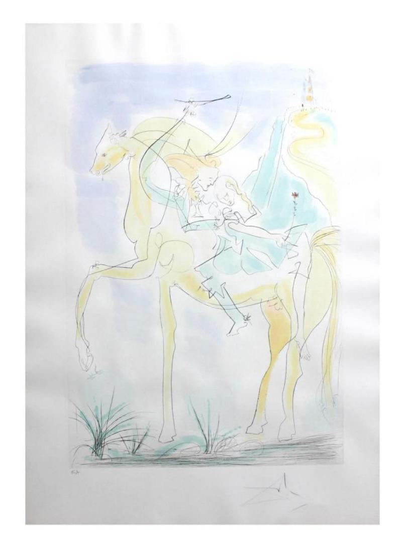 """Salvador Dali """"Adam and Eve"""" 71-8 (K) Original - 2"""