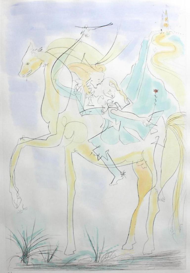 """Salvador Dali """"Adam and Eve"""" 71-8 (K) Original - 3"""