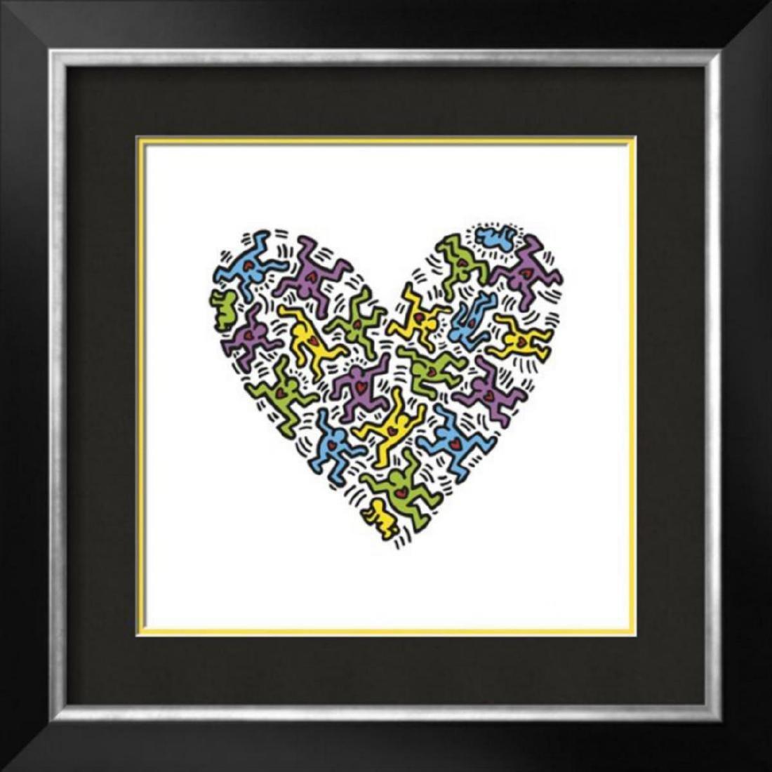 "Keith Haring ""Untitled, 1985 (heart)"" Custom Framed"