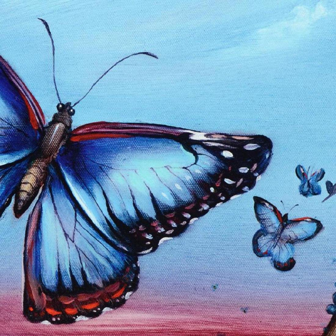 """Morpho Butterflies"" Limited Edition Giclee on Canvas - 2"