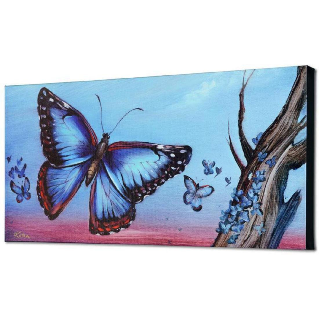 """Morpho Butterflies"" Limited Edition Giclee on Canvas - 3"