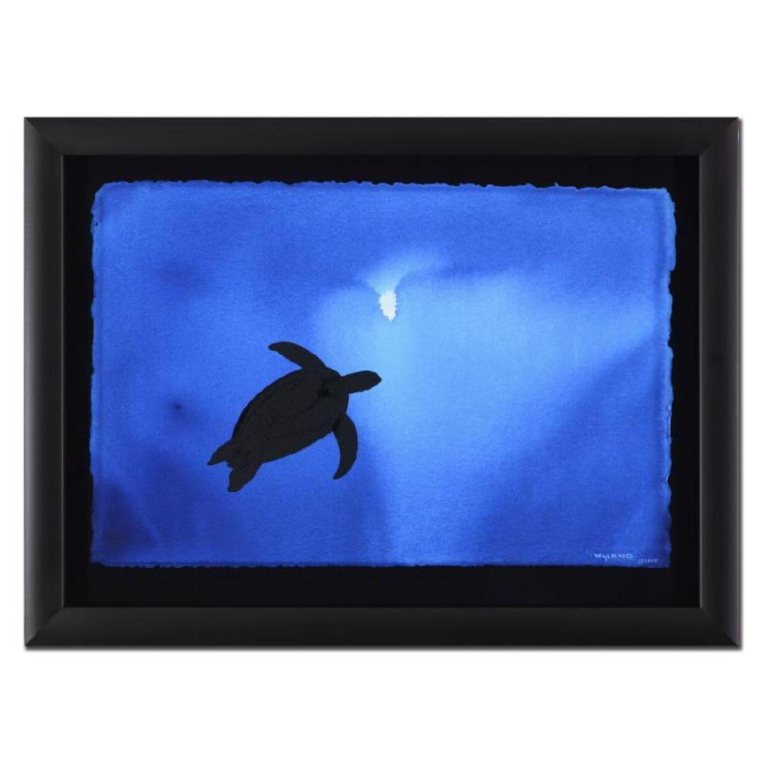 "Wyland - ""Turtle"" Framed Original Watercolor Painting,"