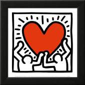 Keith Haring Untitled Pop Art Custom Framed