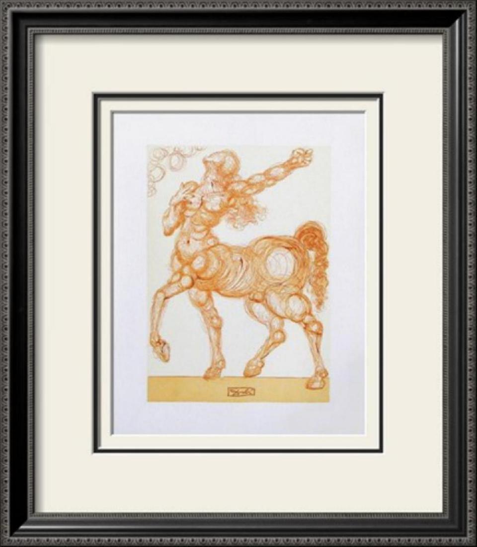 "Salvador Dali ""Divine Comedie, Enfer 25: Le Centaure"""