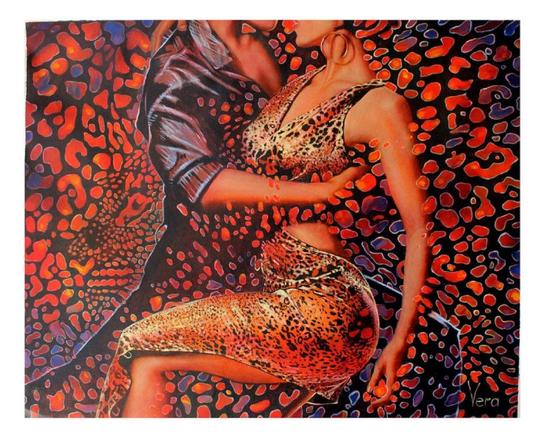 "Vera V. Goncharenko Original Oil on Canvas ""Wild Tango"""