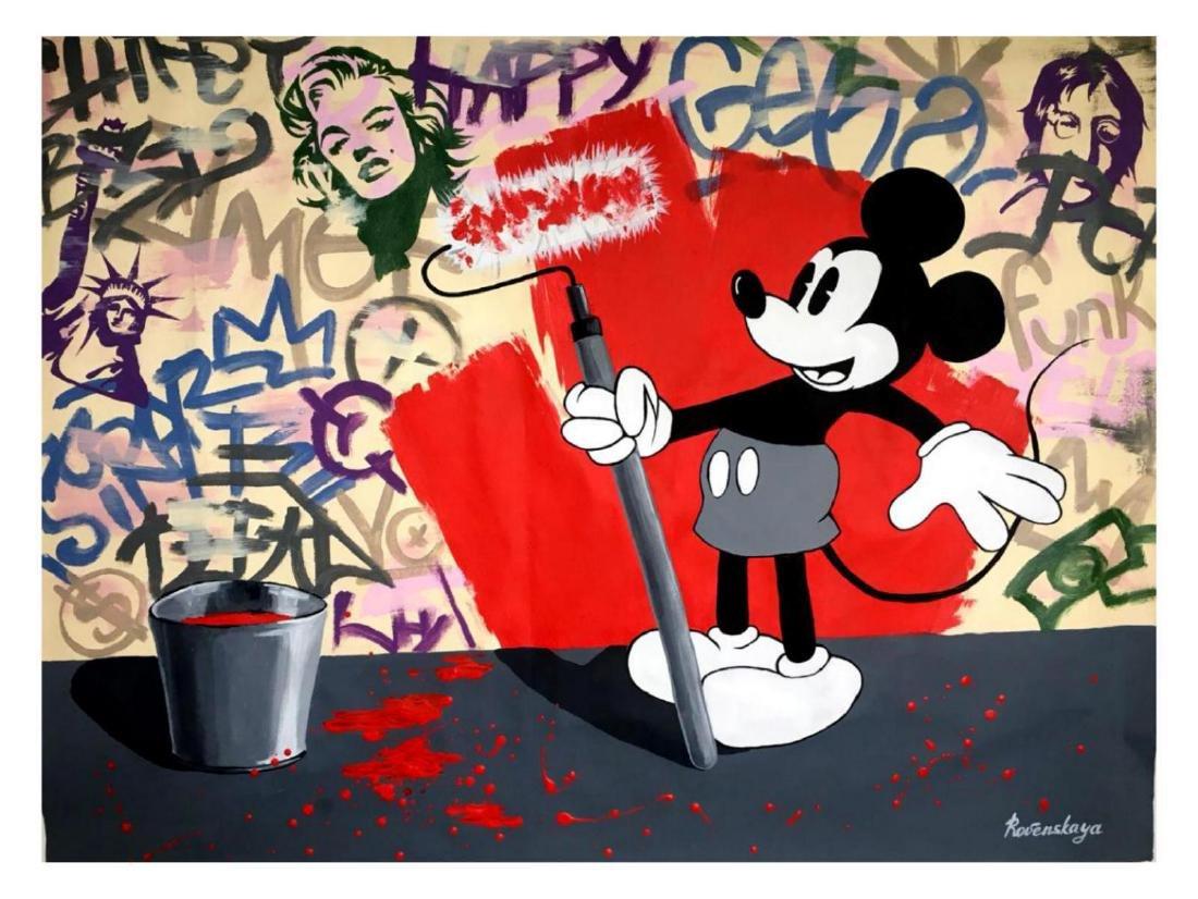 "Nastya Rovenskaya- Original Oil on Canvas ""Mickey's"