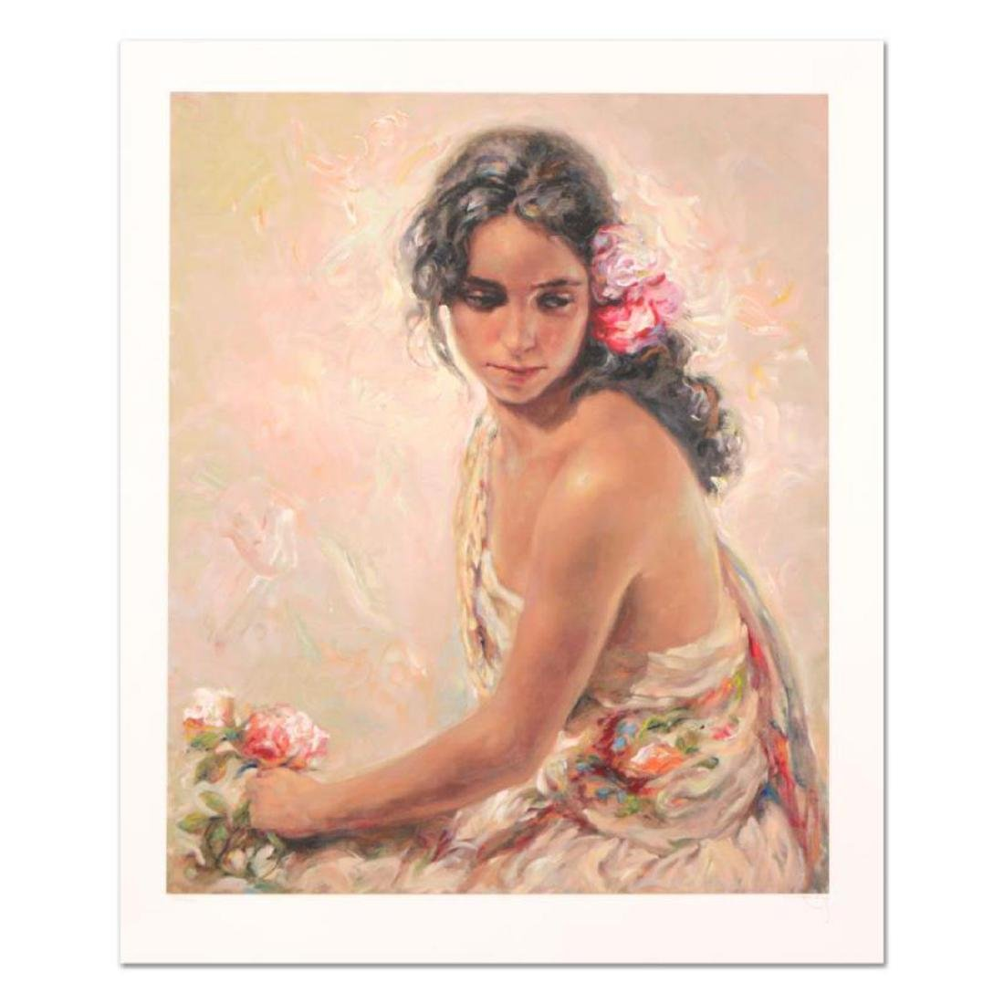 """Royo - """"Andaluza"""" Framed Limited Edition Serigraph,"""