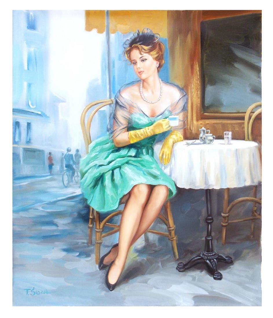 "Taras Sidan- Original Oil on Canvas ""Past Memory"""