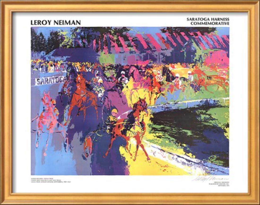 "LeRoy Neiman ""Saratoga Harness"" Custom Framed"
