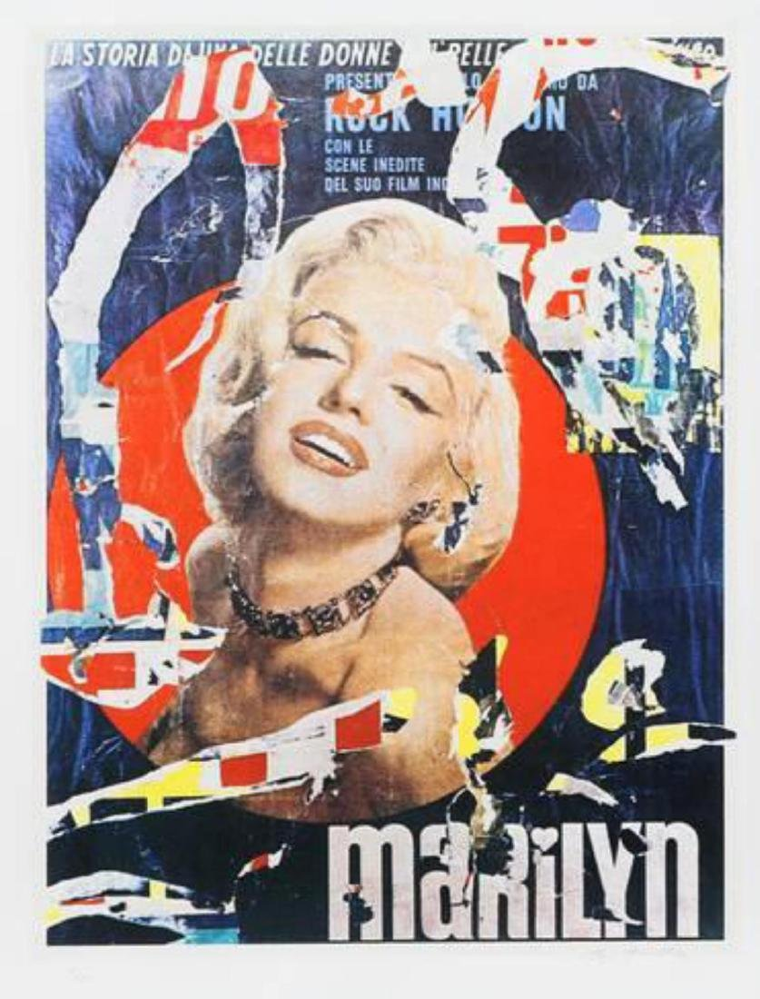 "Mimmo Rotella ""Marilyn 3"" Screenprint"
