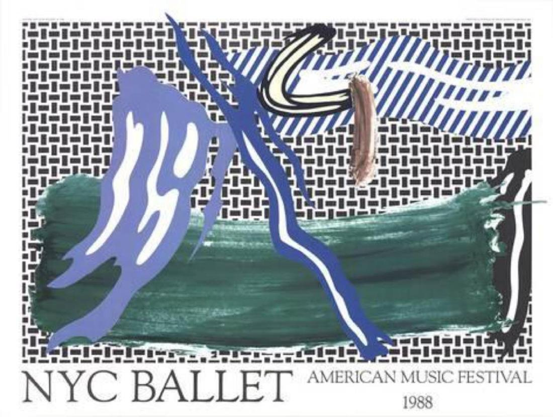 """Roy Lichtenstein """"NYC Ballet American Music Festival"""""""