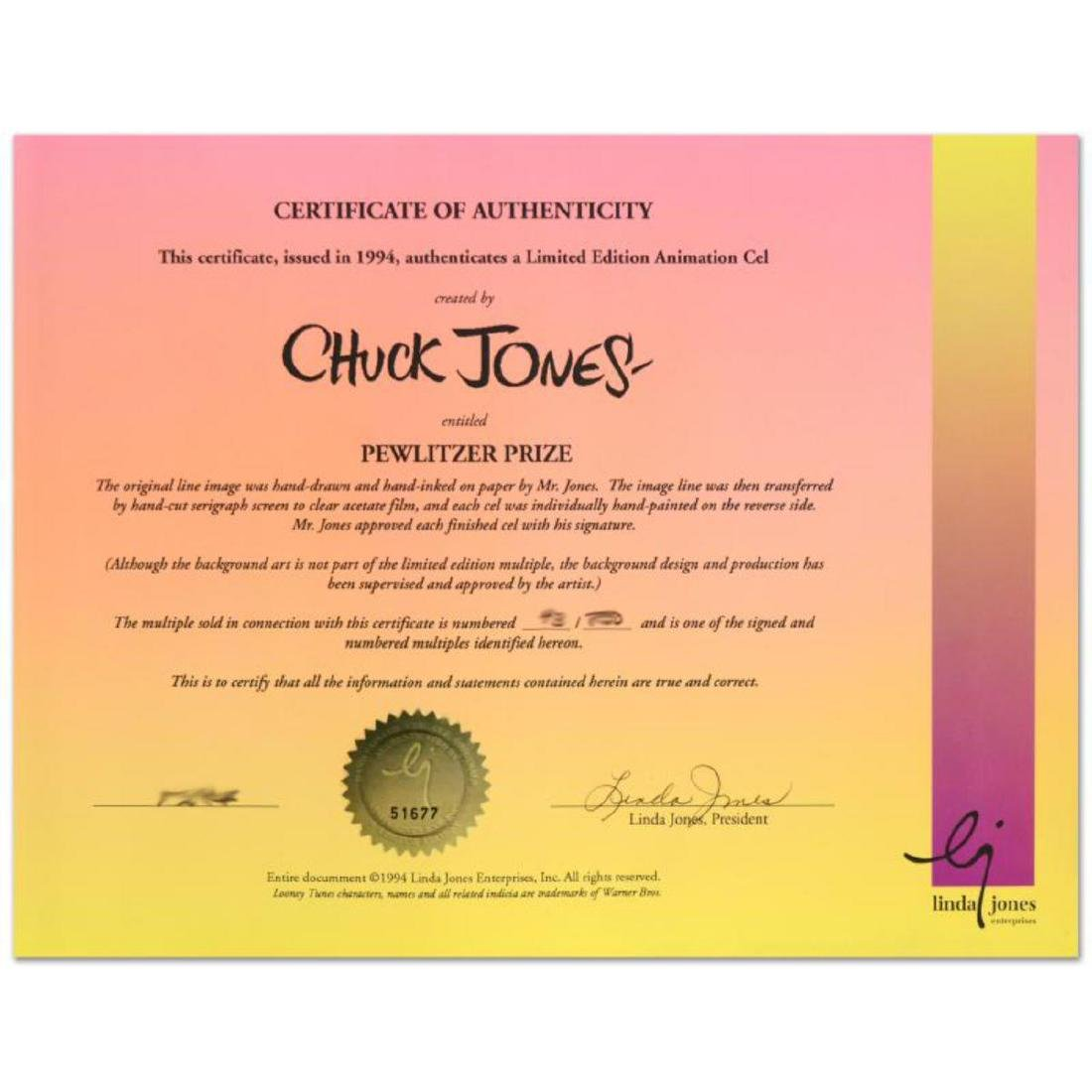 """""""Pewlitzer Prize"""" by Chuck Jones (1912-2002)! Sold Out - 3"""