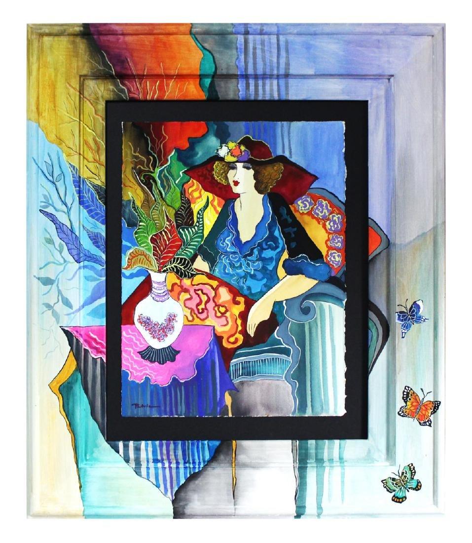 Patricia Govezensky- Original Watercolor with Hand