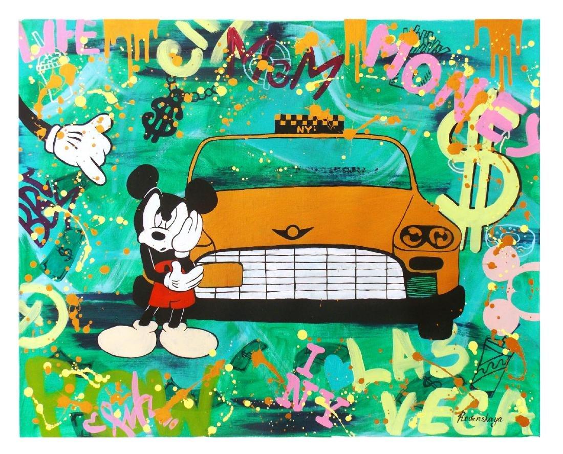 """Nastya Rovenskaya- Original Oil on Canvas """"NYC Taxi"""""""