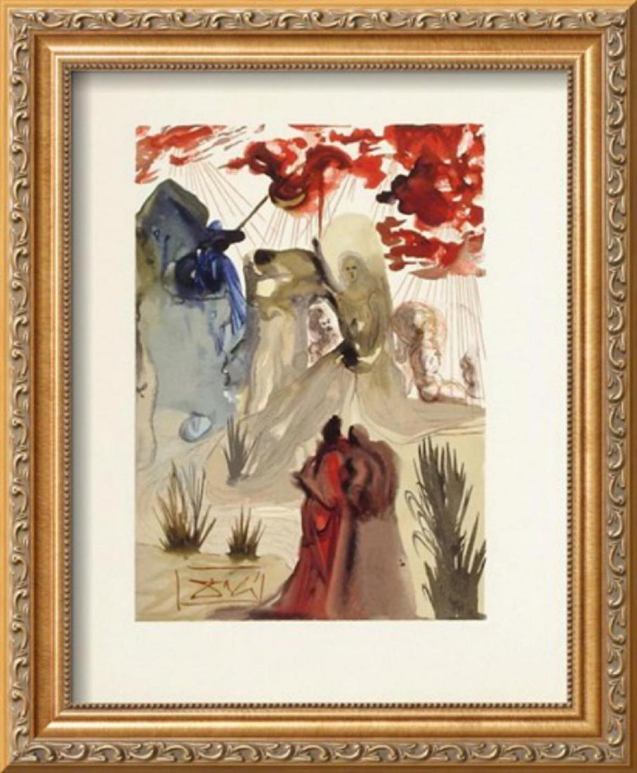 """Salvador Dali """"Divine Comedie, Purgatoire 28: La divine"""