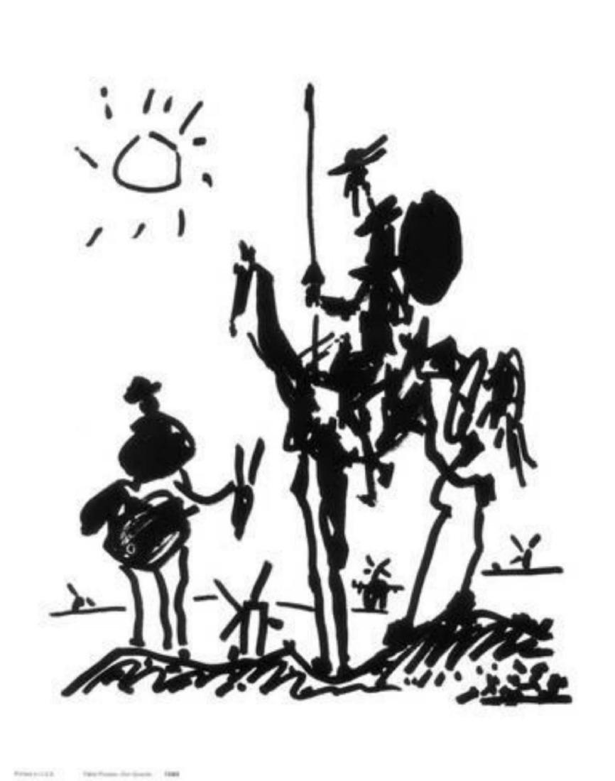 """Pablo Picasso """"Don Quixote, c.1955"""" Offset Lithograph"""