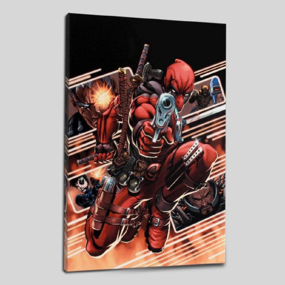"""Cable & Deadpool #9"" Limited Edition Giclee on Canvas - 3"