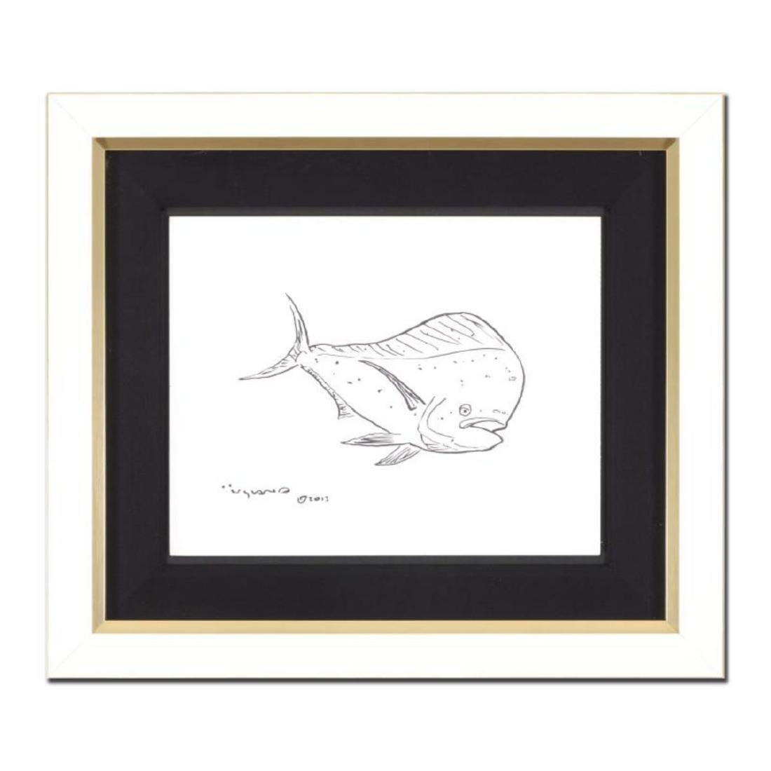 "Wyland - ""Tropical Fish"" Framed Original Sketch, Hand"