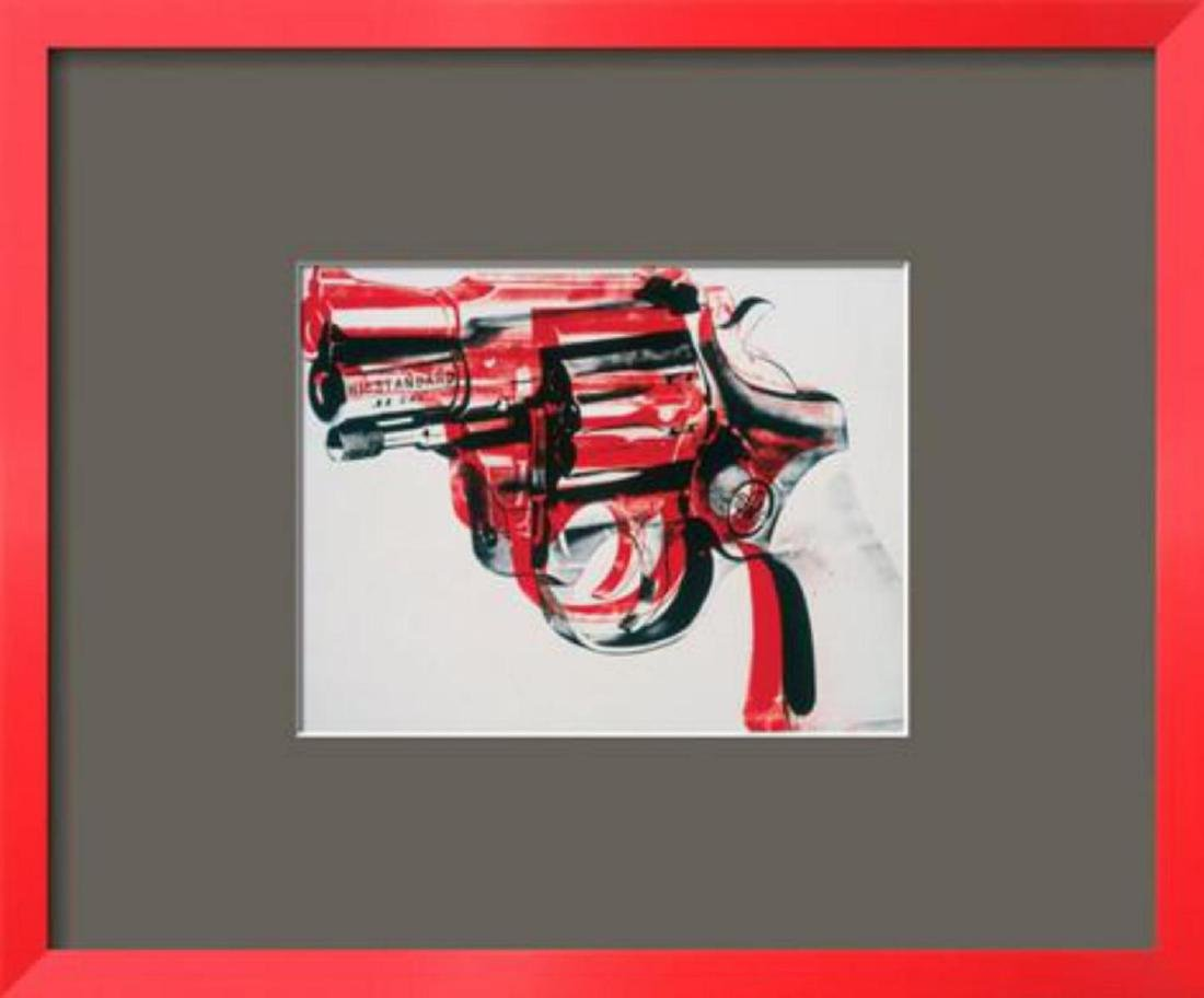 "Andy Warhol ""Gun, c.1981-82 (black and red on white)"""