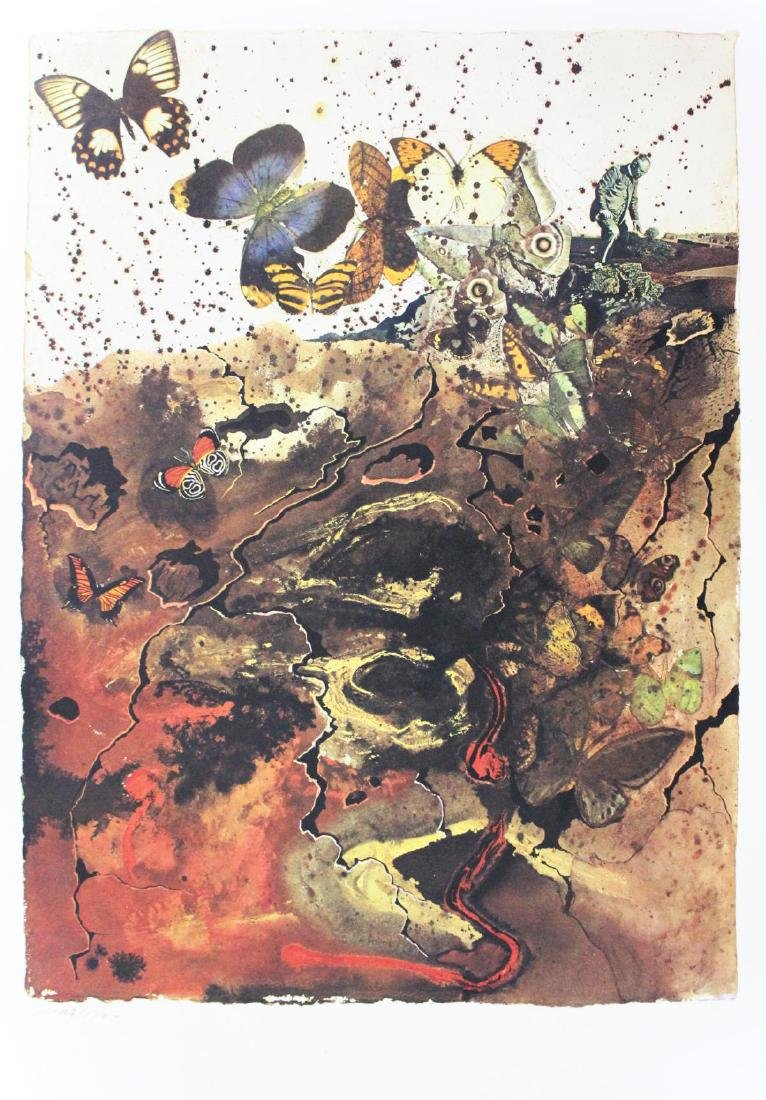 """Salvador Dali- lithography """"Auvergne"""""""
