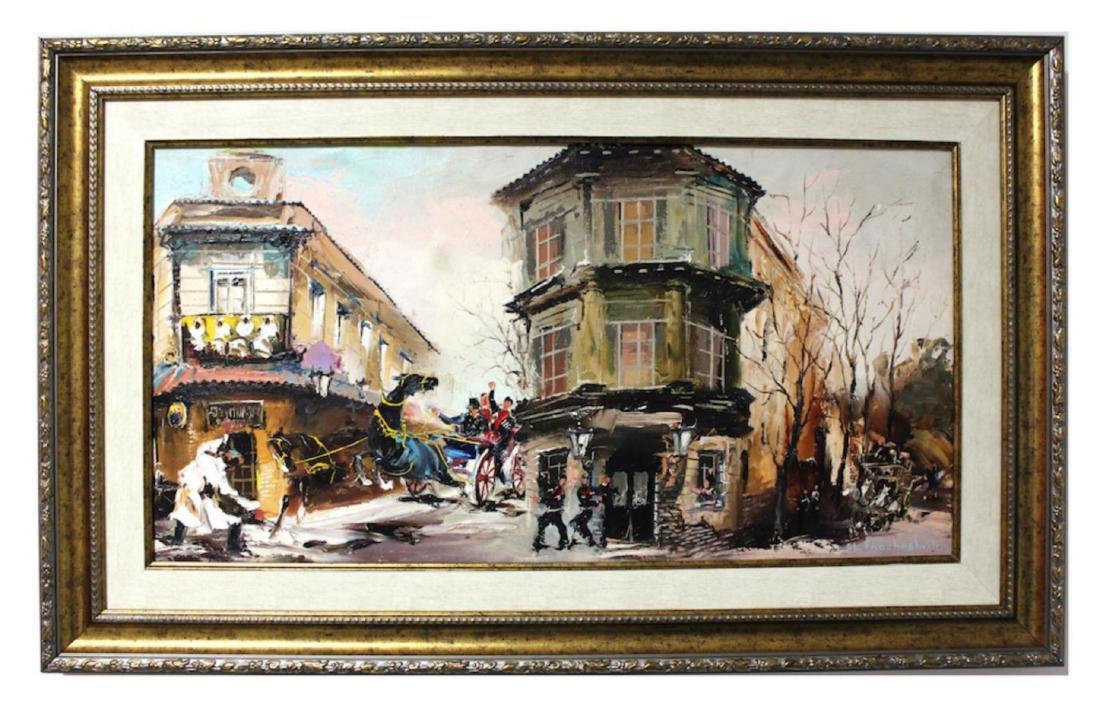 Shalva Phachoshvili Custom Framed Original oil on